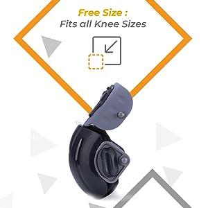 free size knee cap massager