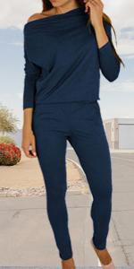 cold shoulder  long sleeve jumpsuit