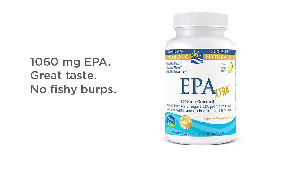 Nordic Naturals EPA Xtra, Lemon - 90 Soft Gels - 1640 mg Omega-3 - High-Intensity EPA Formula for Positive Mood, Heart Health & Healthy Immunity - Non-GMO - 45 Servings