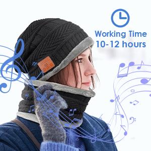 Regalos Originales Gorro Bluetooth Hombre Regalos Navidad Originales Gorras Bluetooth Con Bufanda Regalos Curiosos para Hombre Gorros M/úsica Punto Sombreros Invierno Hombre Lavable Gorro Bluetooth