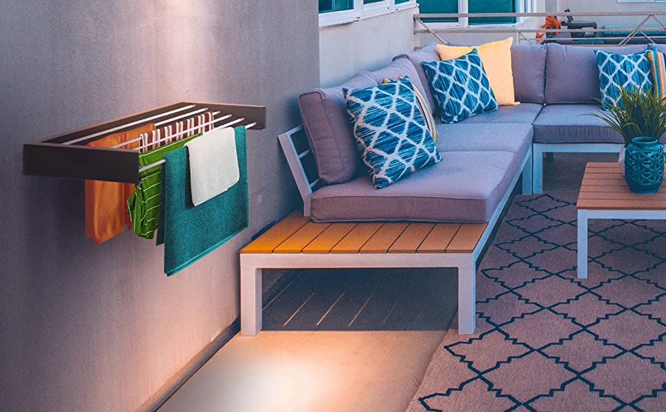 outdoor patio balcony clothes drying rack