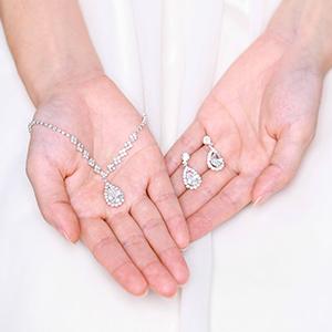 bridal necklace set for wedding silver bridal sets for women necklace  wedding jewelry sets women