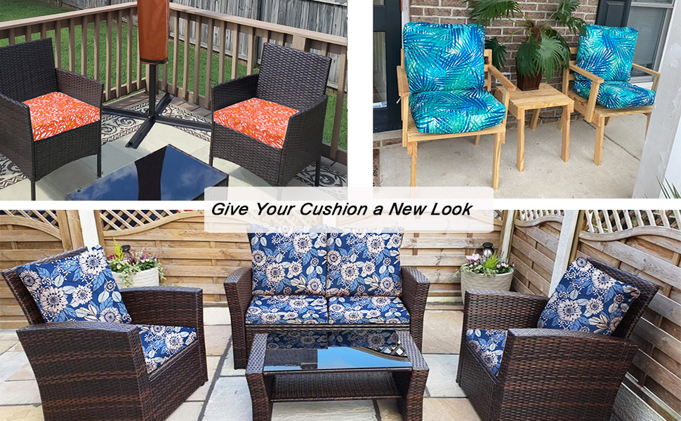 patio seat cushions covers