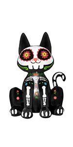 Inflatable Black Cat Skeleton
