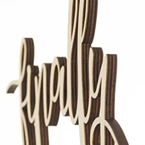 finally premium wooden cake topper