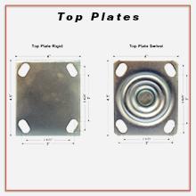 Service Caster, top plate, rigid top plate, swivel top plate
