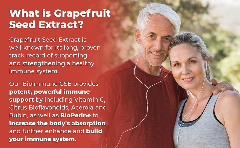 Grapefruit Seed Extract provides powerful immune support and has BioPerine to increase absorption