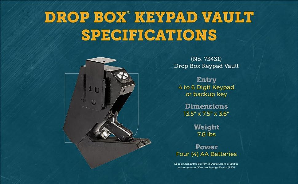 Drop box keypad vault specifications