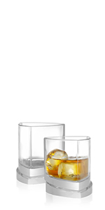 Triangle Whiskey Glasses