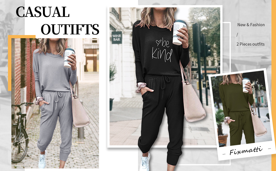 Sweatsuits 2 piece outfits women daily jogger set