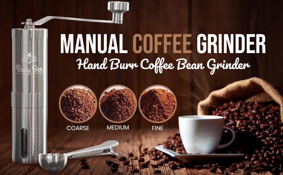 Adjustable Manual Burr Coffee Grinder
