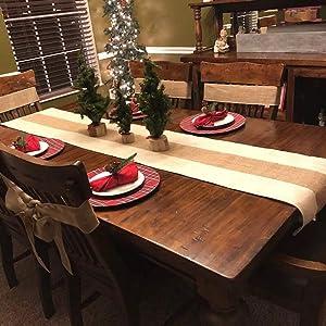 burlap centerpiece buffet table runner table round runner kitchen table centerpieces natural runner