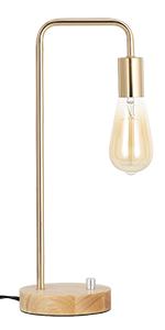 Gold wood Lamp