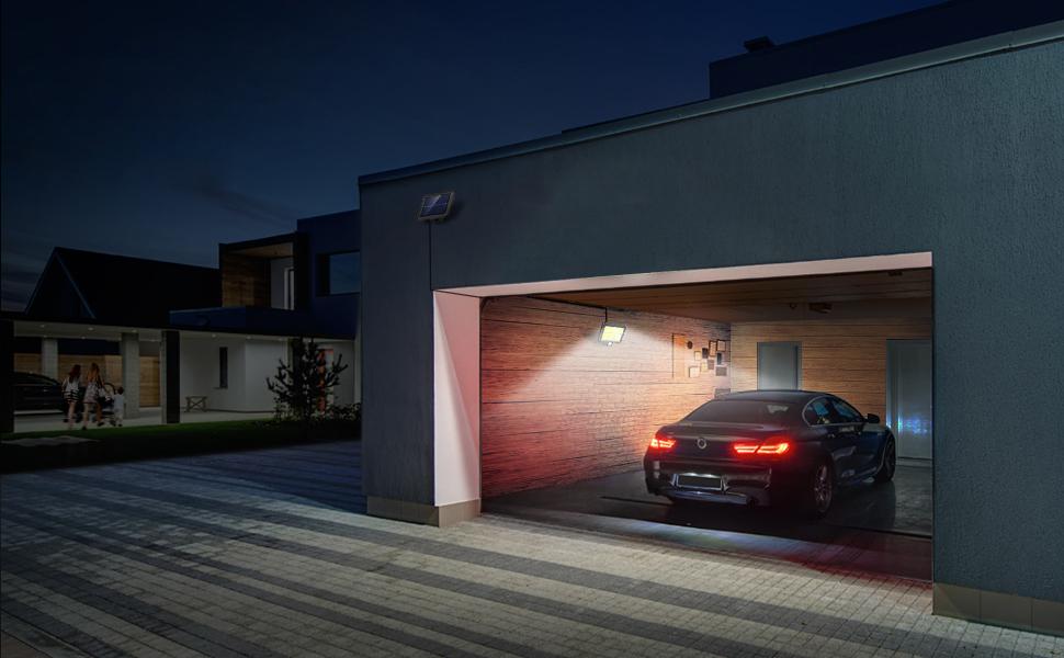 Solar garage lights