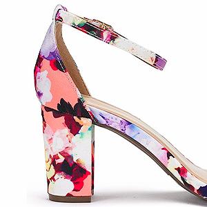 damen dandaletten high heels pumps mit blockabsatz