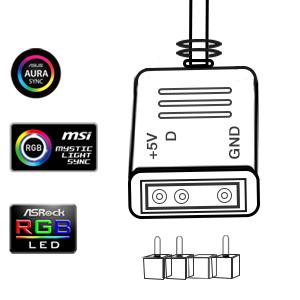 Detalles dePara ASUS, MSI, ASROCK M / B, etc. con encabezado ADD de 3 pines conexión