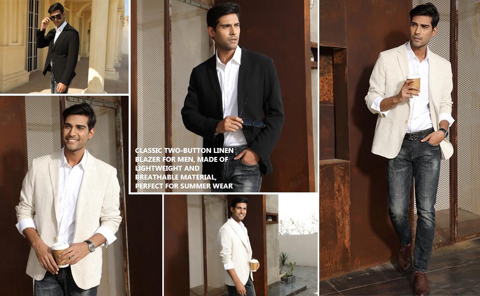 linen suit jackets for men