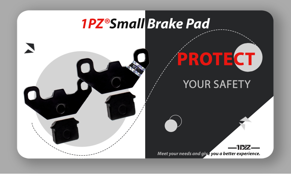 1PZ SSR-SD2 Brake Pad for 50 70 110 125 140 cc SDG SSR Coolster Orion Demon Stomp Pit Bike 2 Pairs