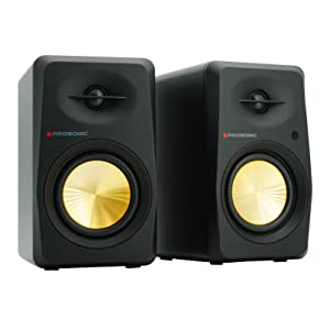 Prosonic Powered Bookshelf Speaker Black