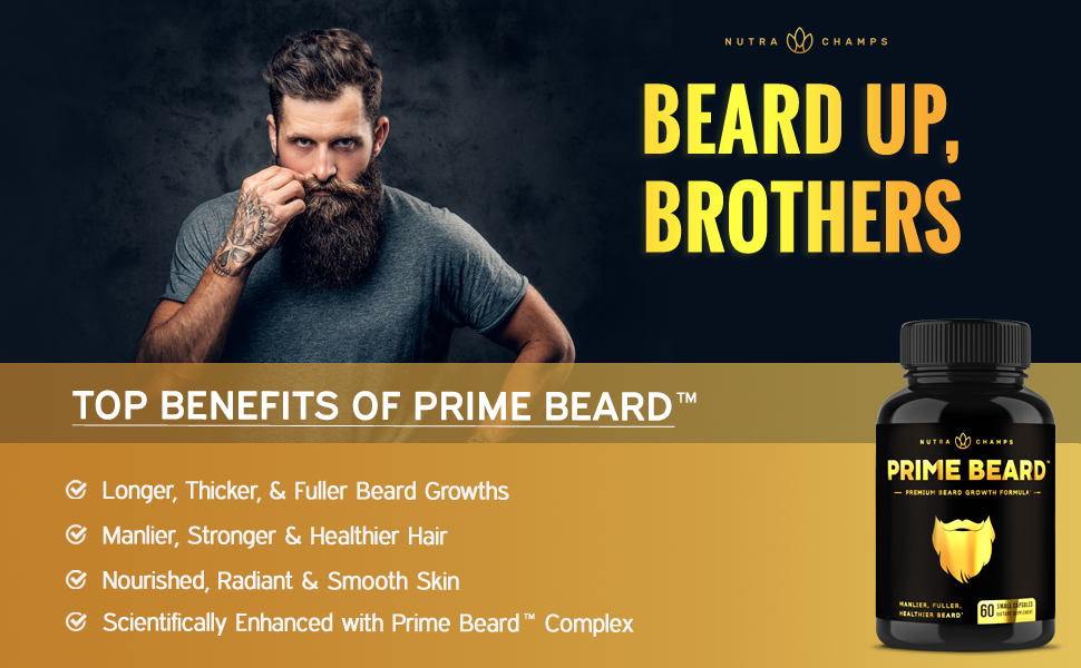 beard supplements for men