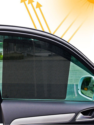 Car Sunshades TIANTIAN 2Pcs 72 * 52cm UV Protector Car Side Window Net Universal Large Size Sun Shade Shied Solar Mesh Film Sticker for Baby Kids and Pets