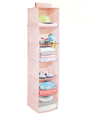 6 Shelf Fabric Kids Hanging Closet Nursery Organizer toy stuffed animal diaper wipe clothing clothes