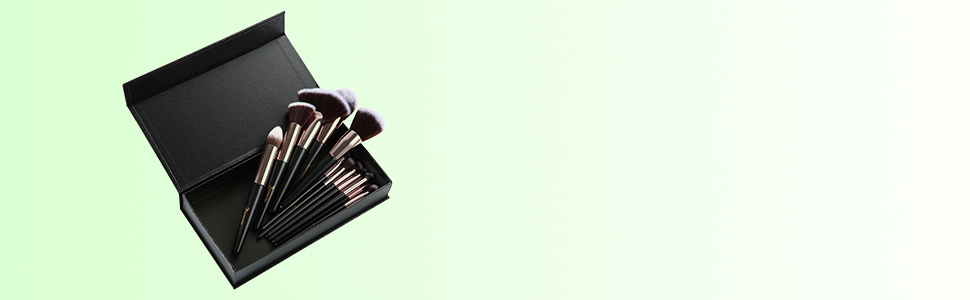 Brochas de Maquillaje, 15pcs Maquillaje Profesional Pinceles Maquillaje de Ojos, Rubor, Contorno, Corrector, Pinceles Cosméticos, Pincel Cosmético Profesional con Estuche de Viaje Elegante (Negro): Amazon.es: Belleza