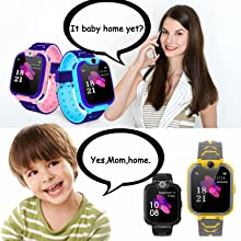 Kids Games Music Camera Smartwatch Phone for Girls Boys Birthday with SOS Call Alarm