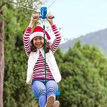 100-Foot Blue Zipline Kit, 100 foot blue, zip line, kids, child,slack line, slackline, bungee rope