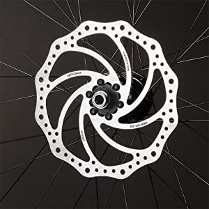 ROCRIDE STAINLESS STEEL DISC BRAKE ROTOR INSTALLED