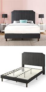 FHVS-BK Velvet Bed Frame Queen