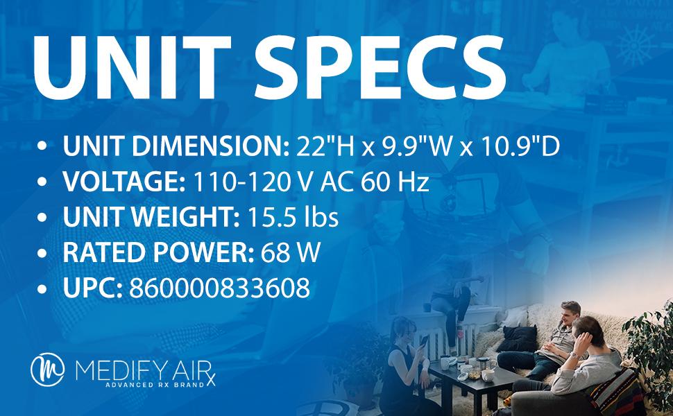 MedifyAir, HEPA, Air purifier, Humidifer, Fresh, Clean, particle, comparison,