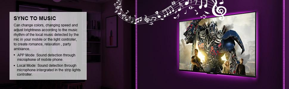 Sync Music Led Strip Lights