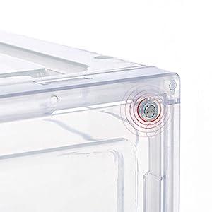 plastic shoe bin storage, magnetic shoe storage box,sneaker case,shoe boxes clear plastic stackable