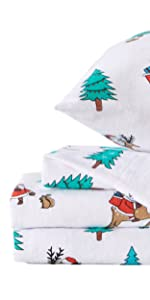 printed flannel sheets