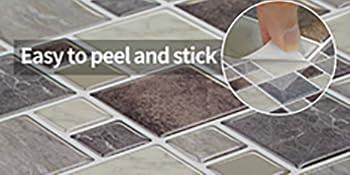 peel and stick backsplash marble tile