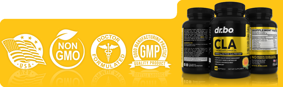 usa doctor formulated gmp oleic acid palmitic stearic organic cla safflower oil seed 2000 fast