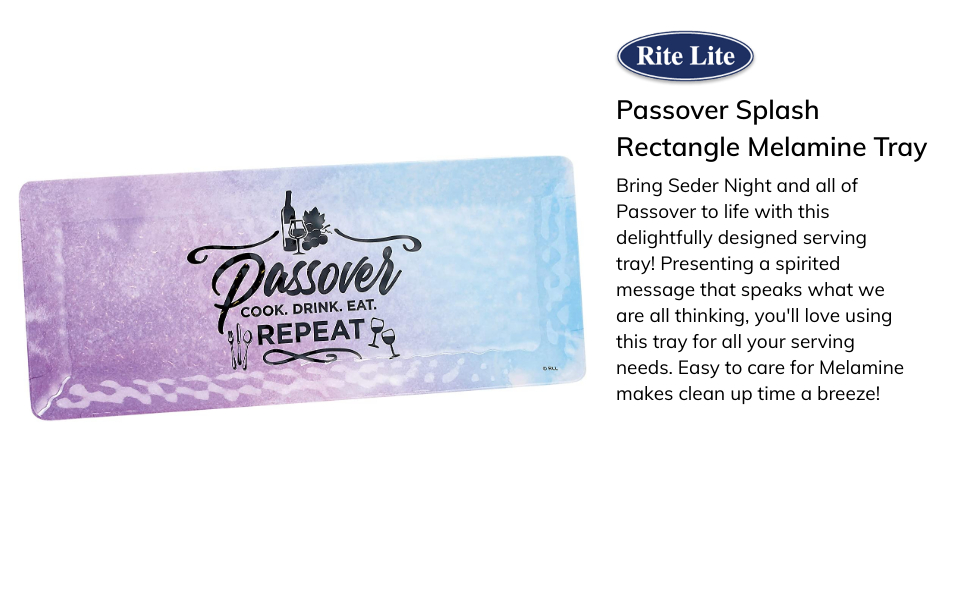 Rite Lite Passover Soft Matzah Tray with Pesach Potpourri Design For Seder