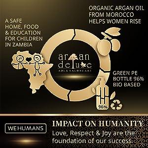 Argan Deluxe unterstützt mit WE HUMANS soziale & ökologische Projekte.