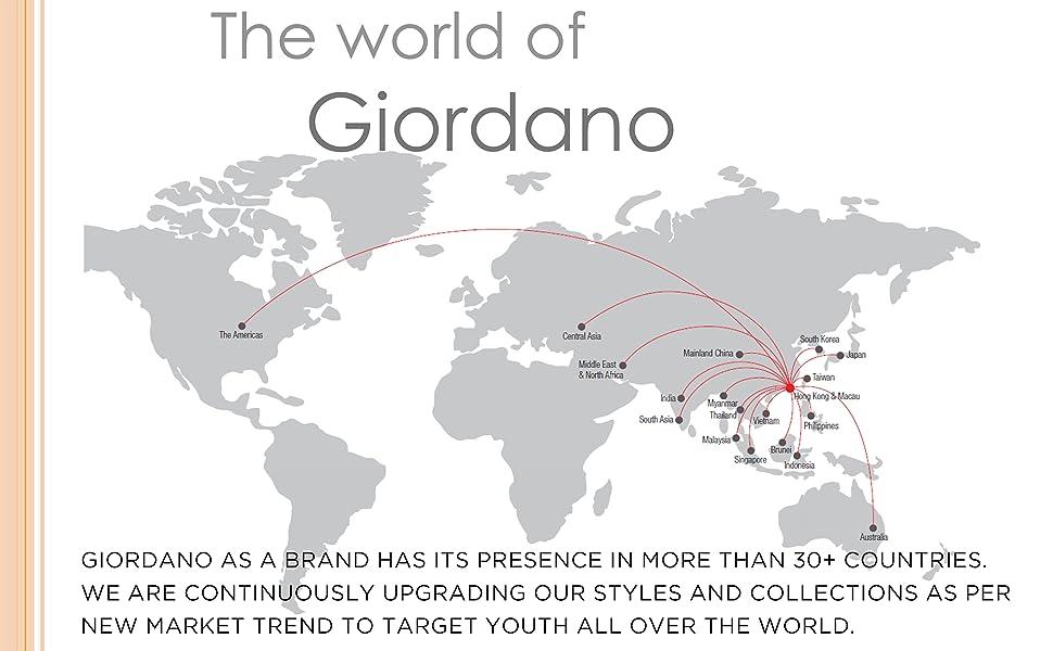 Giordano world presence