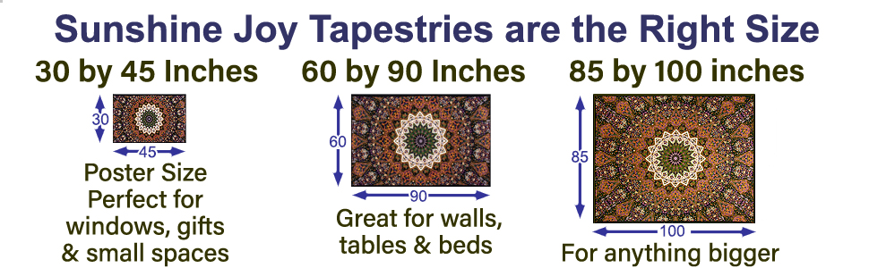Sunshine Joy Size Tapestries
