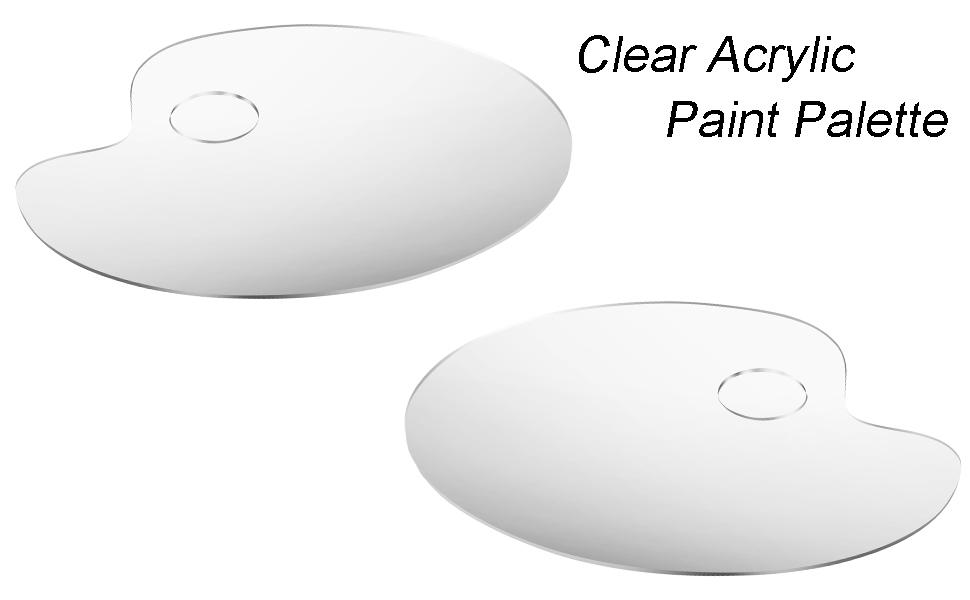 Acrylfarbe Palette Plastikfarbe Palette Malpalette f/ür Aquarell Gouache Acryl/ölgem/älde