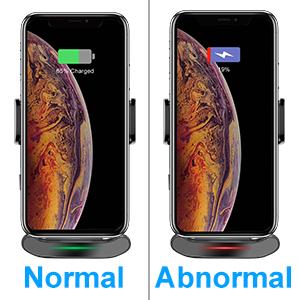 LED charging indicator shows the  phone charging status