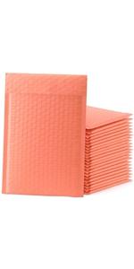 Pink Orange Bubble Mailers