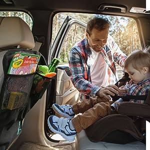 Kangokids Auto Sitzschutz Für Auto Rückenlehne X2 Polsterschutz Wasserdichter Auto Rückenlehnenschutz Mit Rückenlehnen Tasche Robuster Autositzschoner Zum Schutz Vor Tritten Und Flecken Baby