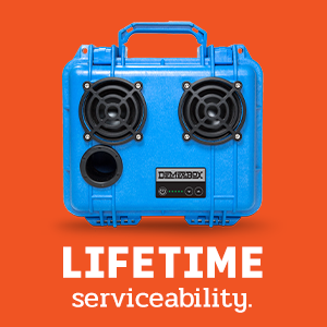 serviceable fixable repairable waterproof bluetooth speaker portable outdoor rugged loud demerbox