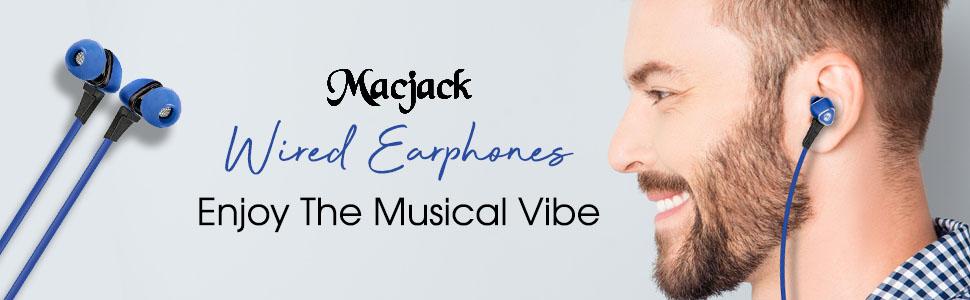 Macjack Wired Earphones Image