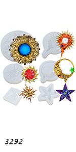 Celestial Sun Moon Plaque Molds