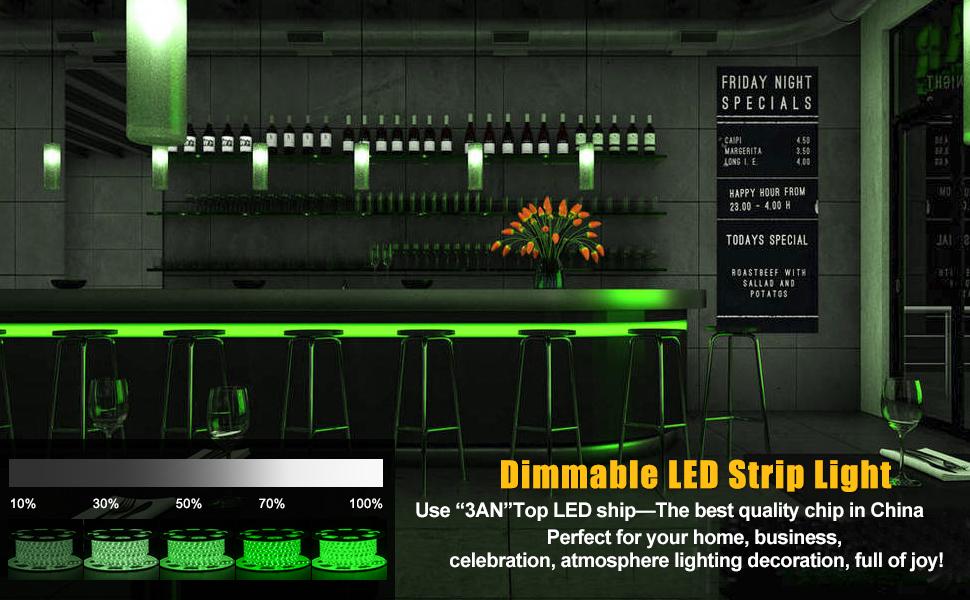 Green Strip Light