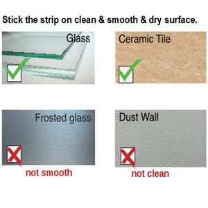 smooth and clean and dry surface